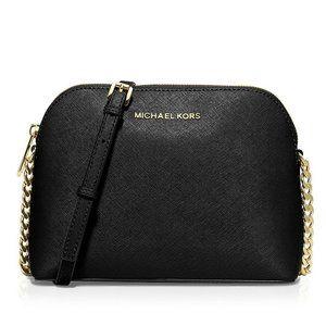 NWT MICHAEL KORS Large Cindy Crossbody Bag BLACK